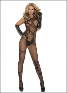 Erotic Scrolling Vine Bodystocking for your sexual fantasies