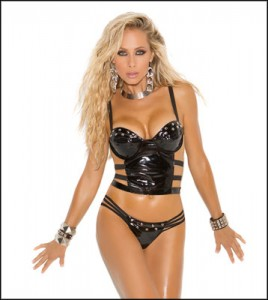 Elegant Moments Vinyl Lingerie from the 2014 collection