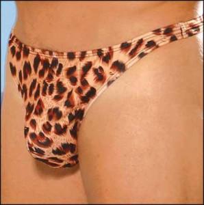 Men's Leopard Thong
