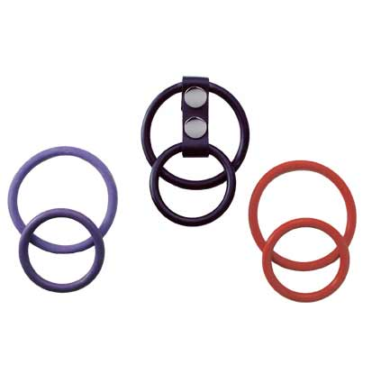 Spartacus Interchangeable Dual Cock Ring Set