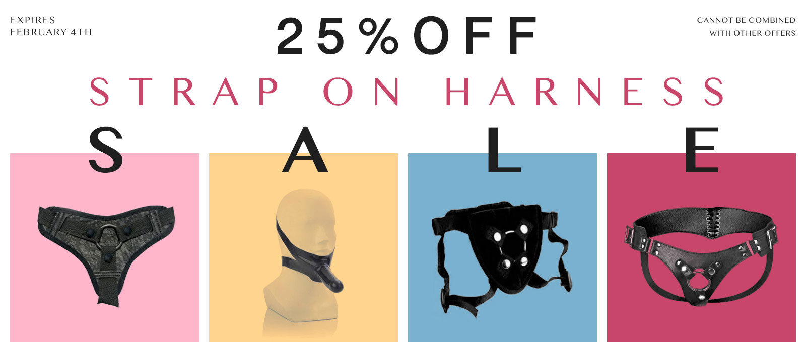 Leather Strap On Harness sale 25% off