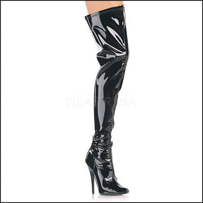 Thigh high boots bondage
