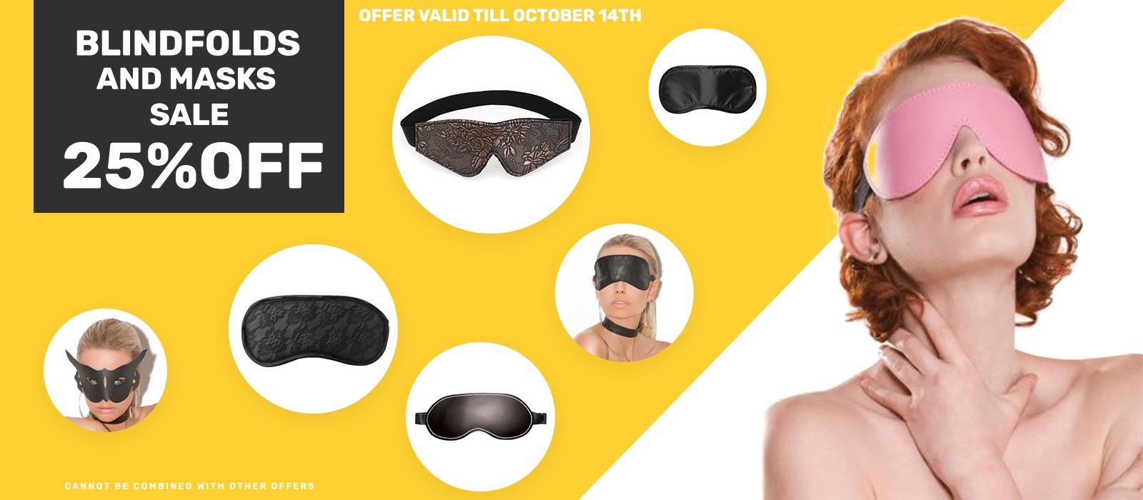 Bdsm blindfold and mask sale