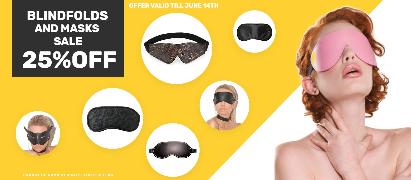 Bdsm blindfold and mask sale
