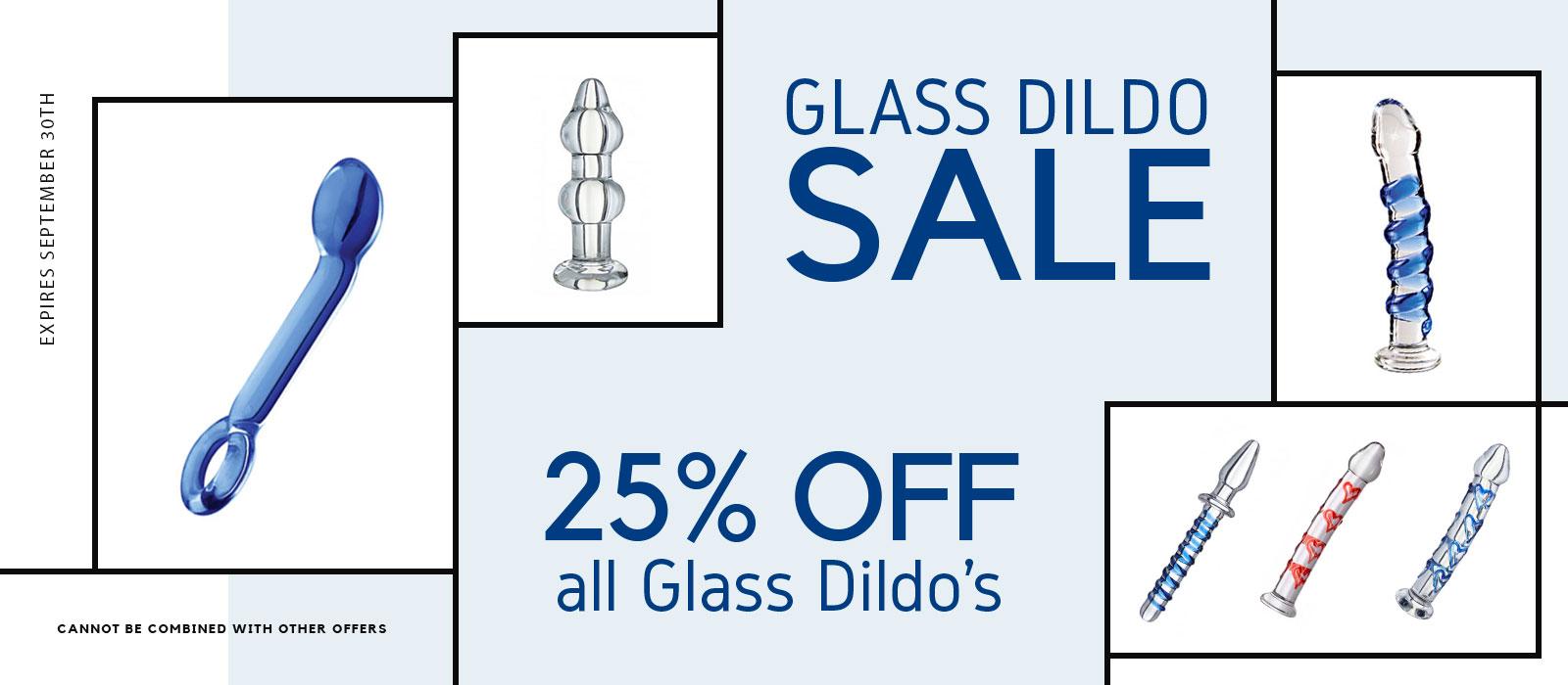 25% off Glass Dildo Sale