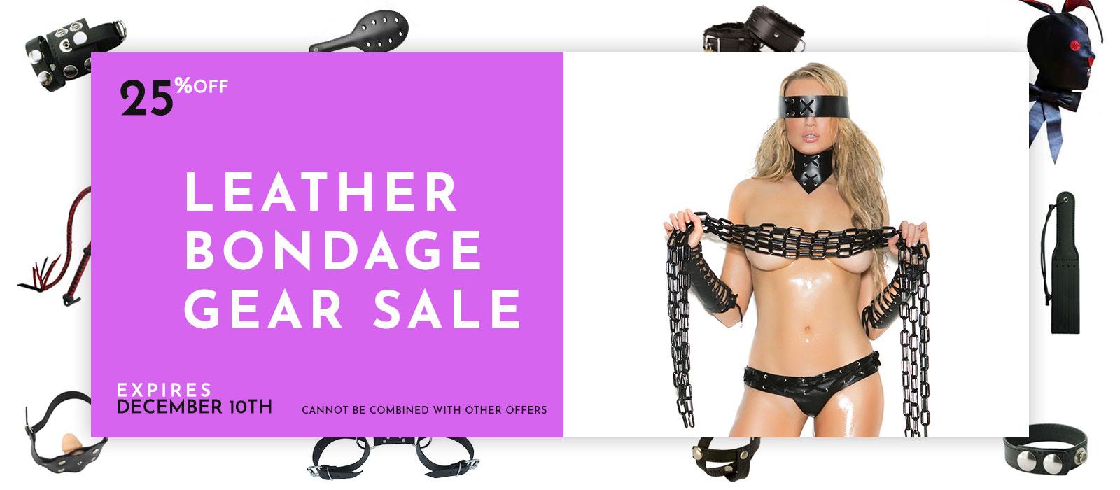 leather bondage gear sale