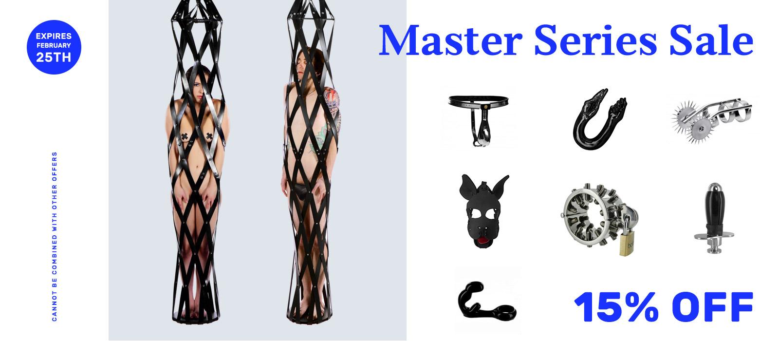 Master Series Bondage Gear Sale