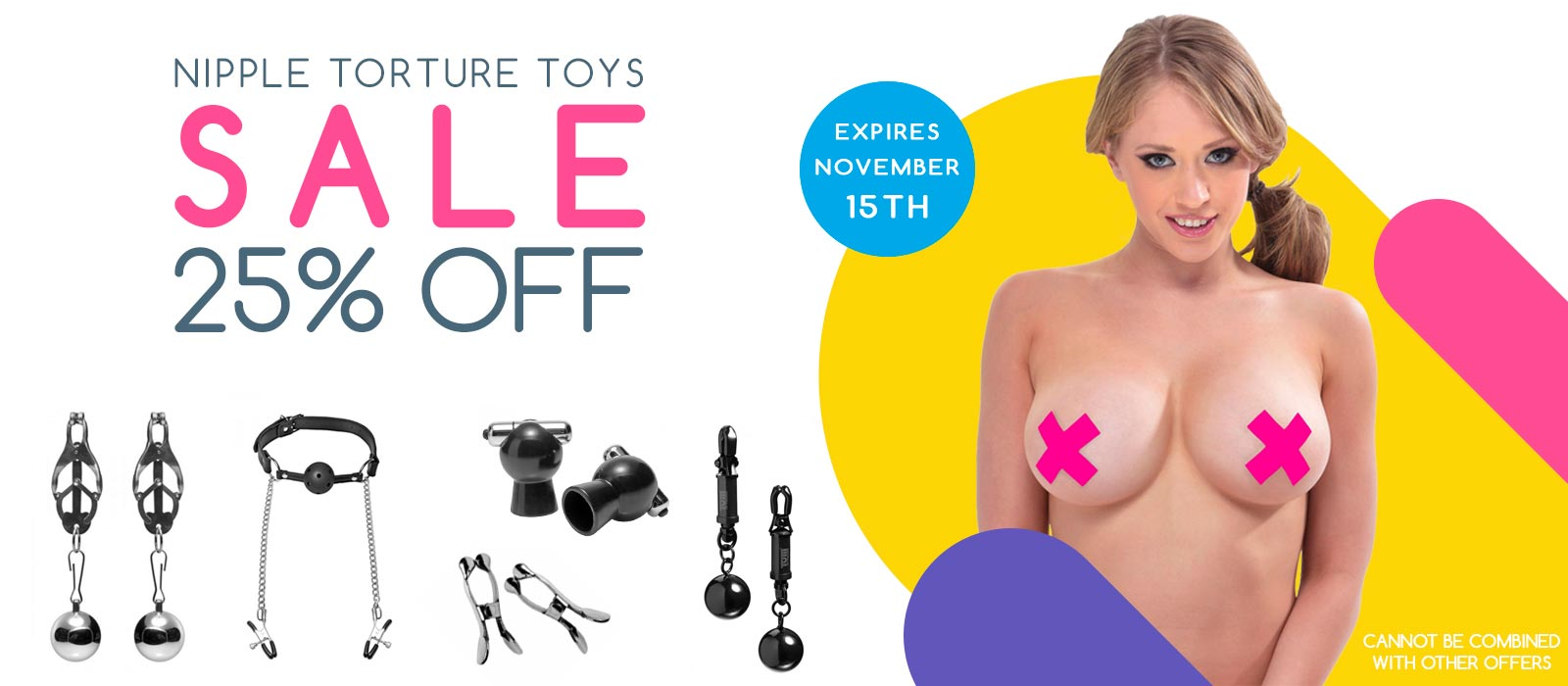 Nipple Tourture Sale! All nipple clamps and suction devices