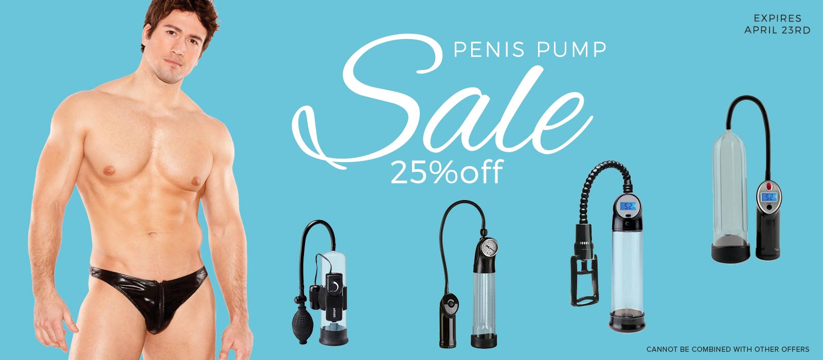 25% off penis pump sale