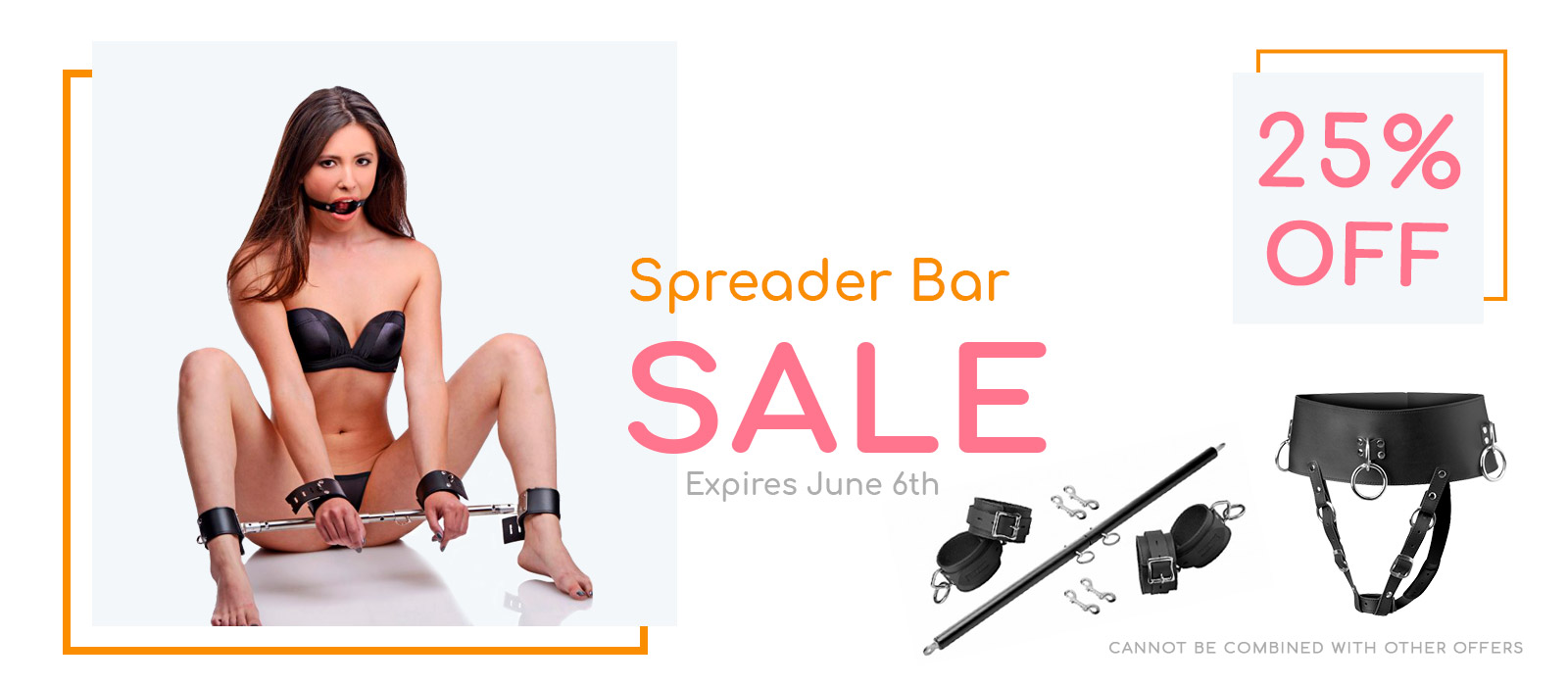 Spreader Bars and Belt Sale 25% off