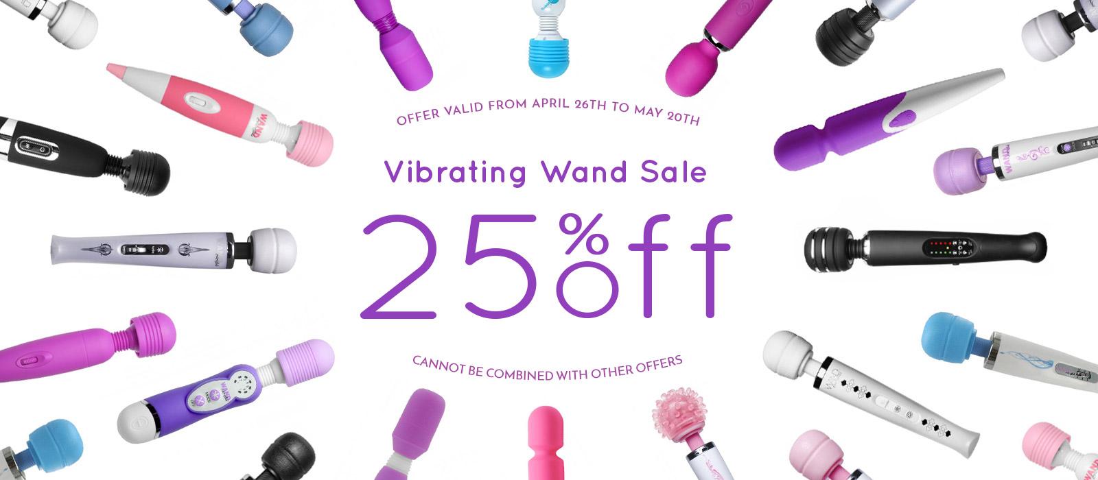Get 25% off all Magic Wand Vibrators