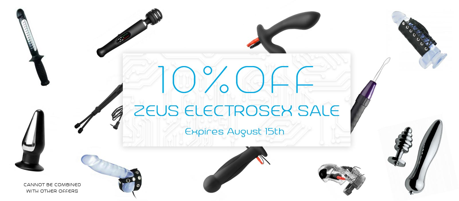 Zeus Electrosex Sale, Save 10% on all Zeus Products