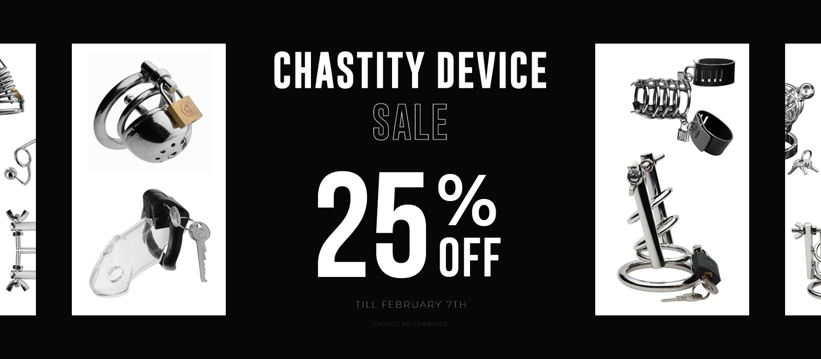 Chastity Device Sale 25% off