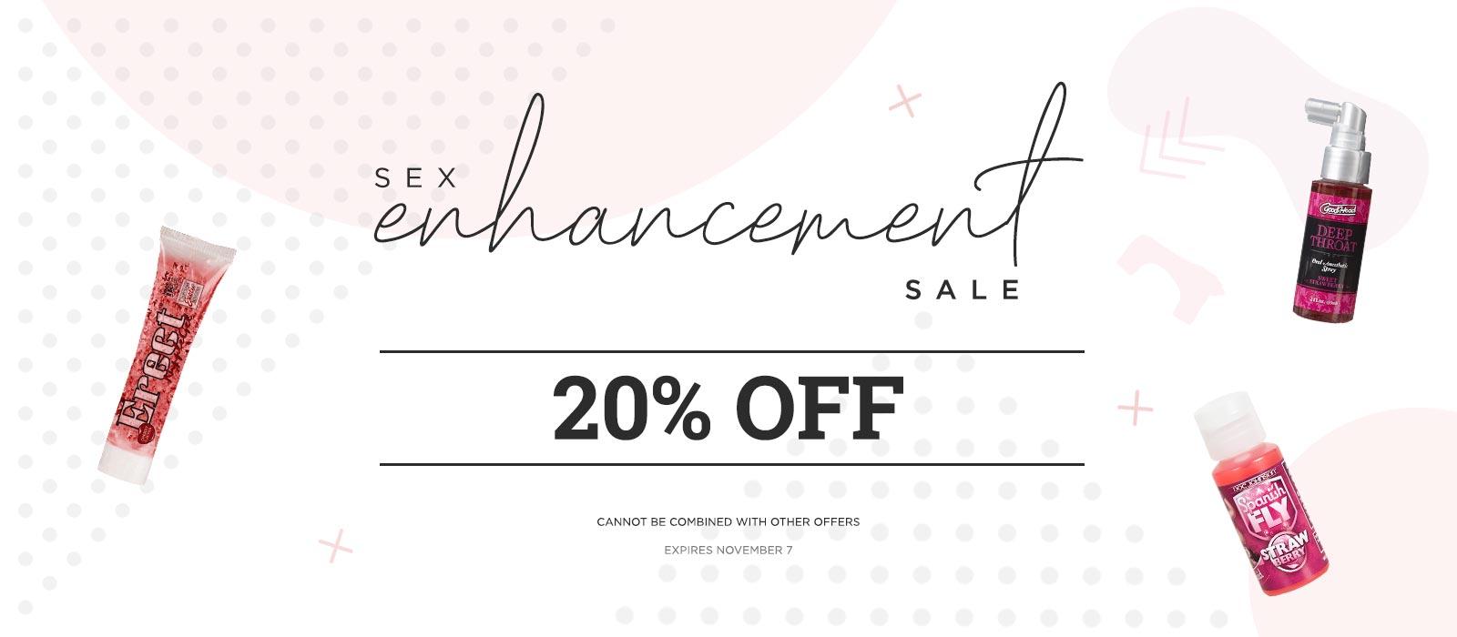 Sex Enchancement 20% Sale