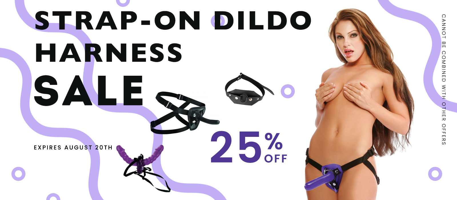 Strap-on harness with dildo included sale
