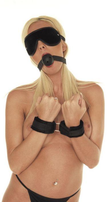 Soft Bondage Velcro Black Set